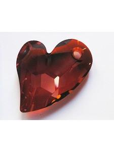 Swar Devoted 2 U Heart Pendant Red Magma
