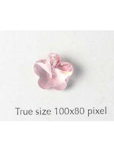 Swar Flower Pendant 12mm Light Rose