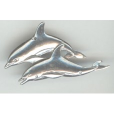 Pewter 2 Dolphins Flat - 3 holes