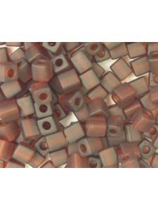 Miyuki Squares 4mm Fros. Dk.Amber-5 gram
