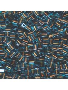 Miyuki Squares 4mm C/L Blue/Brown 5 gram