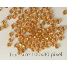 Seed Bead #11 Copper Lined Lt Topaz-10gr