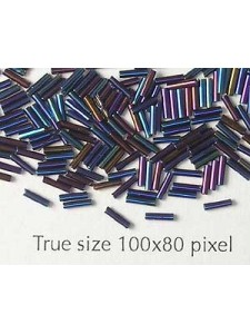Maco Tubes 1x3mm Blue Iris - per 5 gram