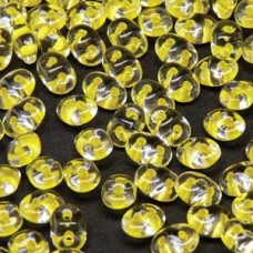 Superduo 2.5x5mm Cry Yellow Lined -22gr