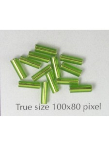 Bugle 6mm Lt Green Metallic - per 10gram
