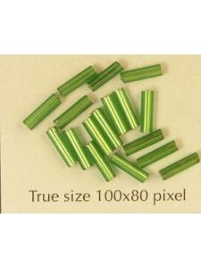 Bugle 6mm Emerald Metallic - per 10 gram