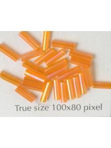 Bugle 6mm Lt Orange Iris - per 10 gram
