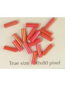 Bugle 6mm Dark Red AB - per 10 gram