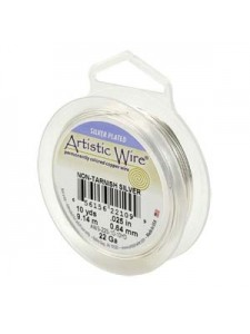 Artistic Silver Pl Wire RD 20gauge 25FT