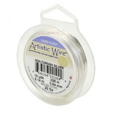 Artistic Silver Pl Wire RD 28gauge 40FT