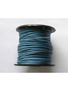 Cotton Wax Cord 0.5mm Blue 25 meters