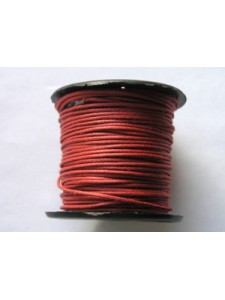 Cotton Wax Cord 0.5mm Corrida Red 25 mtr