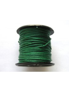 Cotton Wax Cord 0.5mm Green 25 meters