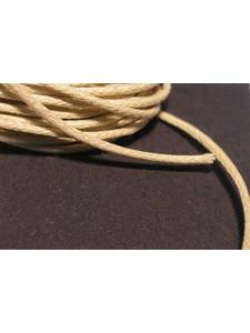 Cotton Wax Cord 1mm Beige 3mt