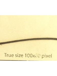 Cotton Wax Cord 1mm Black 3mt