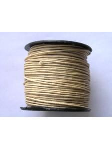 Cotton Wax Cord 1mm Wheat 50mt Roll