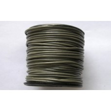 Round Leather Cord 1.5mm Coconut 25mt