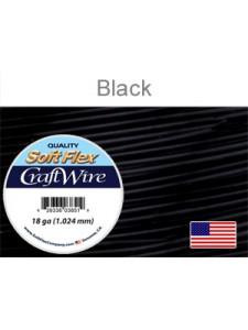 Soft Flex 18GA Black Craft Wire 7 yards