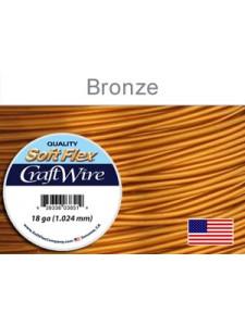 Soft Flex 18GA Bronze Craft Wire 7 yards