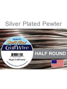 Soft Flex 18GA SP Pewter Half Round 4YRD