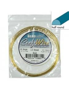 Craft Wire 18ga Half-round 4yd Gold plat