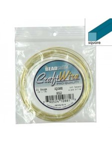 Craft Wire 21GA Square 4YDS Gold