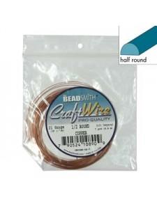 Craft Wire 21ga half-round 7yd Copper
