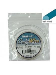 Craft Wire 1/2 Round 21ga -4YDS Silv p