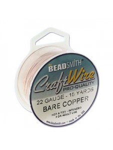 Craft Wire 22GA Round Bare Copper 15 YDS
