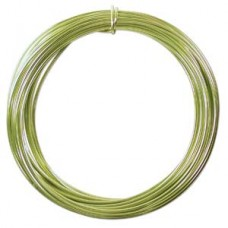 Aluminium Wire 12 ga Apple Green 39 feet