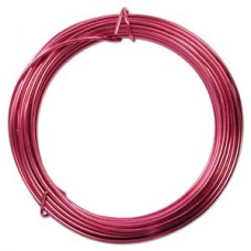 Aluminium Wire 12 ga Strong Pink 39 feet