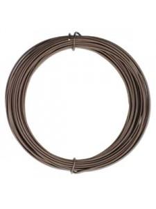Aluminium Wire 12 ga Matt Brown 39 feet