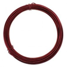 Aluminium Wire 12 ga Ox Blood Red 39 FT