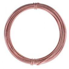 Aluminium Wire 12 ga Rose Gold 39 feet