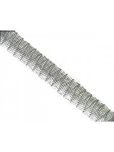 Mesh Ribbon 6mm Light Silver-per 1 Mtr
