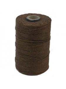 Irish waxed Linen 2-ply 50gram Brown
