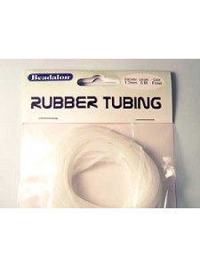 Rubber Tubbing Frosted 1.7mm x 5 mtr