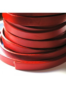 Leather 10mm(W)x2.5mm (T) Red - M