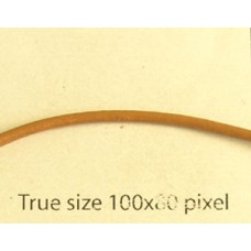 Round Leather Cord 1.5mm Lt Brown 25mt
