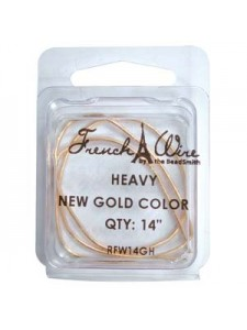 French Wire New Gold Col 1.1mm Heavy14in