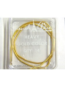 French Wire Gold heavy  14 in
