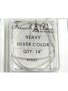 French Wire Silver heavy  14 in