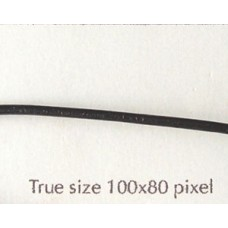 Leather Round 1.5mm Black 3mts