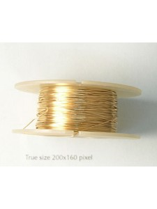 Wire Gold filled #2 Hard 26gauge 0.5oz