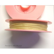 Bead Thread Extra Thick 0.6mm Beige 30M