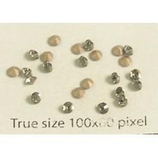 Swar Chaton 2.55mm Bl Diamond- per 24pcs