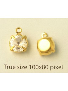 Round stone SS39 clear gold set 1 ring