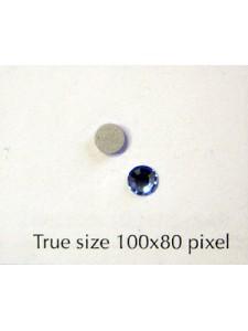 Swar Flat Round Stone (~4mm) Lt Sapphire