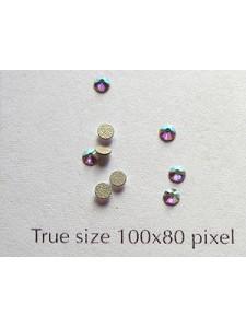 Swar Flat Round Stone 2.3mm Clear AB