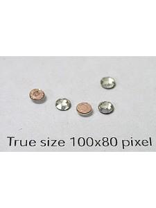 Swar Flat Stone 3mm Clear F Hot Fix